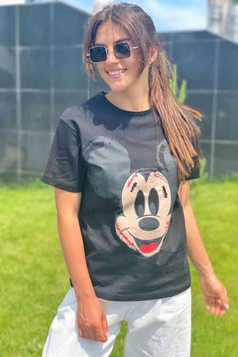 Модная женская футболка с принтом Мики