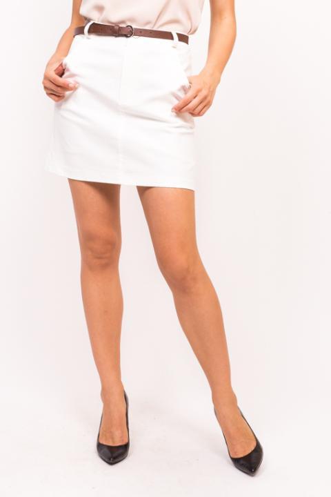 Фото 5 модели 876-1 Стильная юбка с пояском LUREX - белая