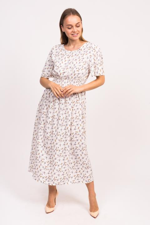 c315d31ce74 Фото 5 модели 811-1 Длинное цветочное платье LUREX - белое
