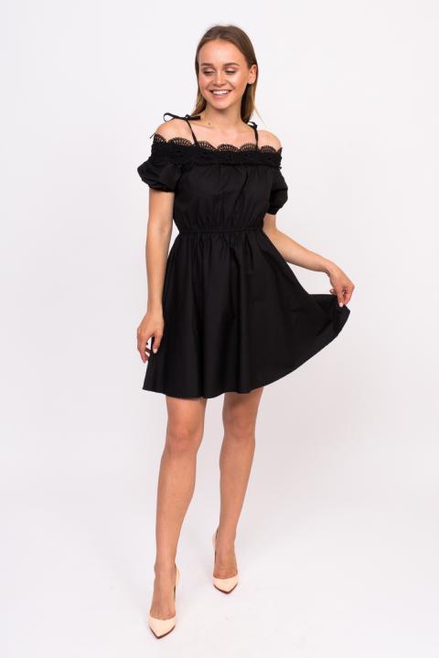 fd5cd835edf Фото 13 модели 6188 Летнее платье с открытыми плечами LUREX - черное