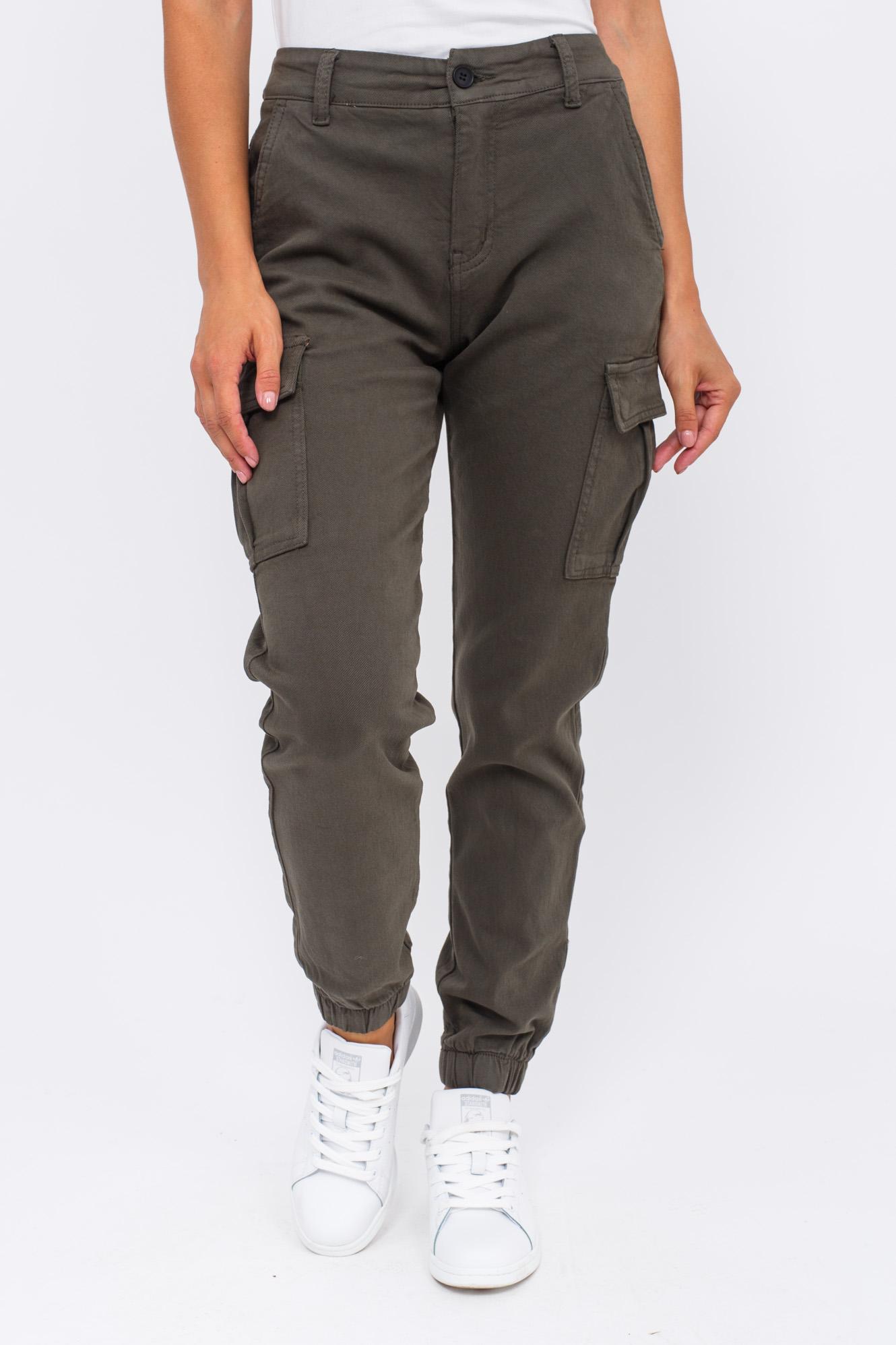 Стильные джинсы карго Re-Dress - хаки цвет