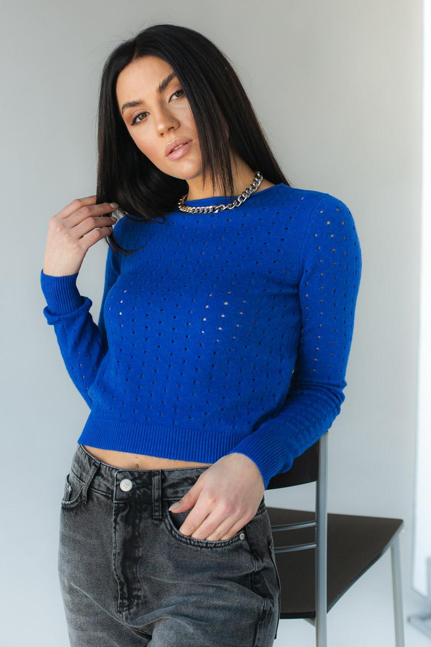 Оригинальный женский джемпер Evelin - синий цвет