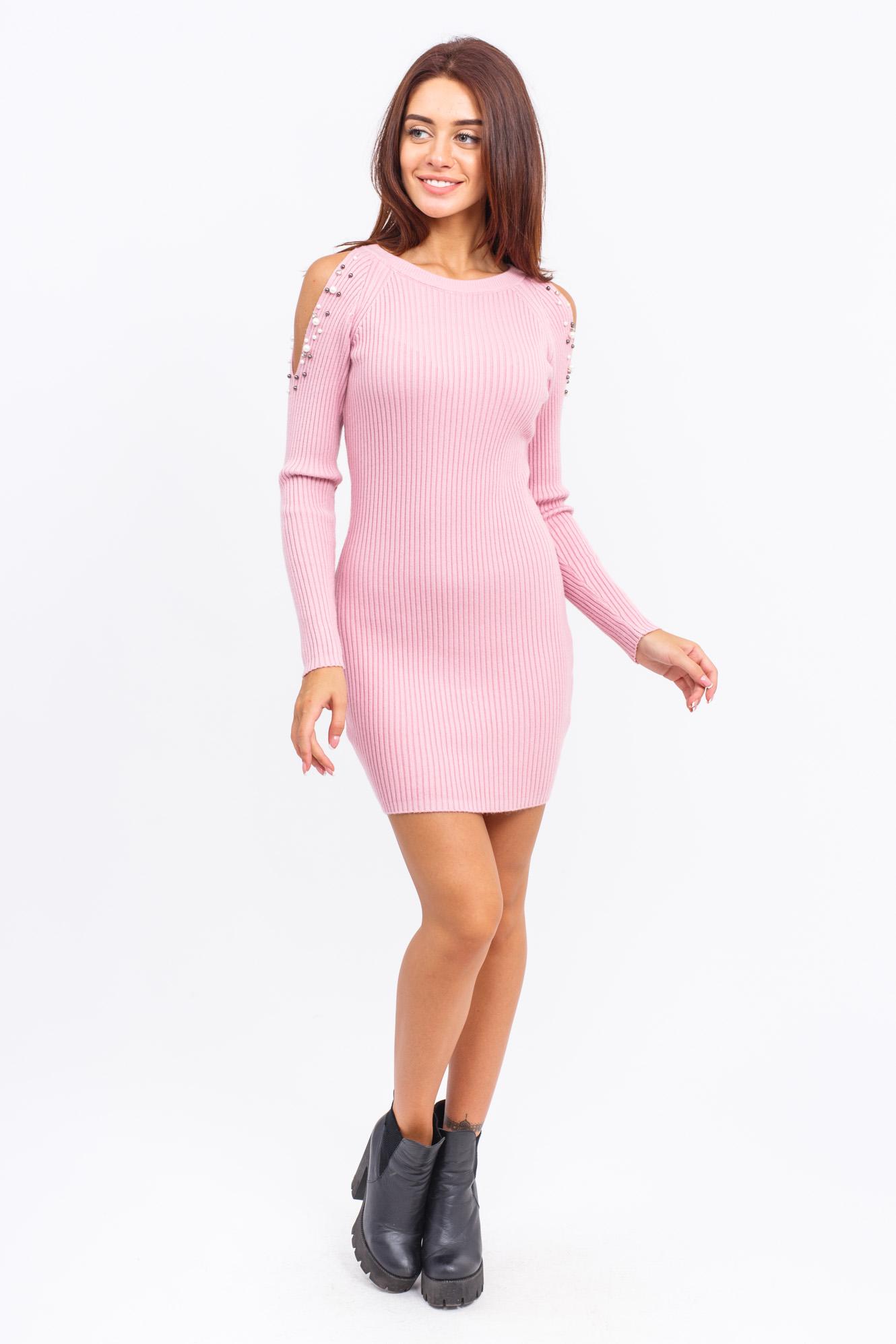 Туника с открытыми плечами LUREX - розовый цвет