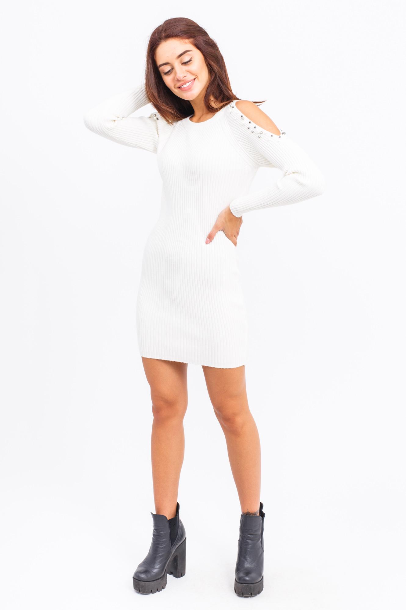 Туника с открытыми плечами LUREX - белый цвет