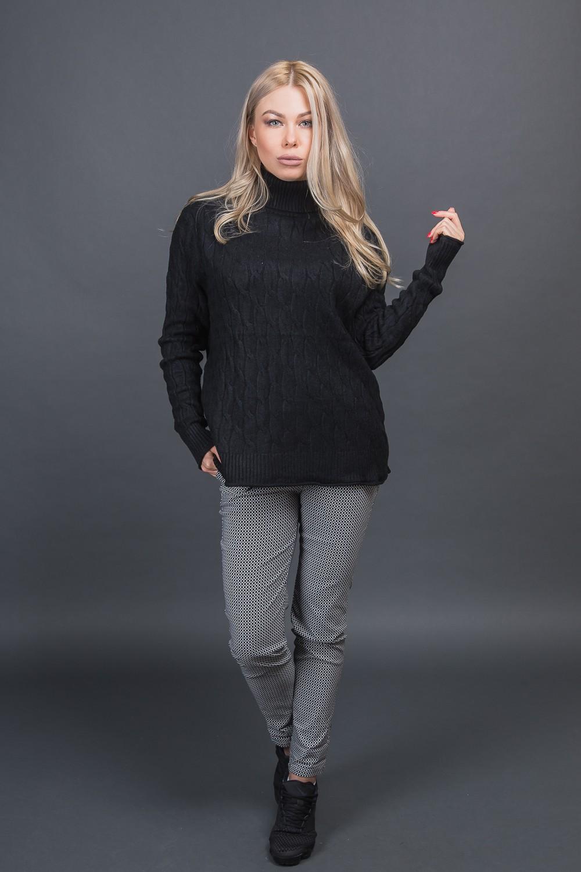 Теплая кофта с воротником Moni Eco - черный цвет
