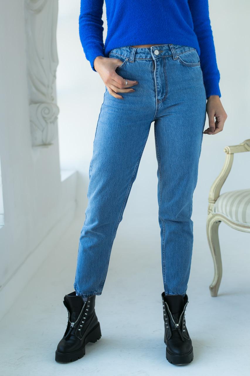 Классические mom джинсы  Crep - голубой цвет