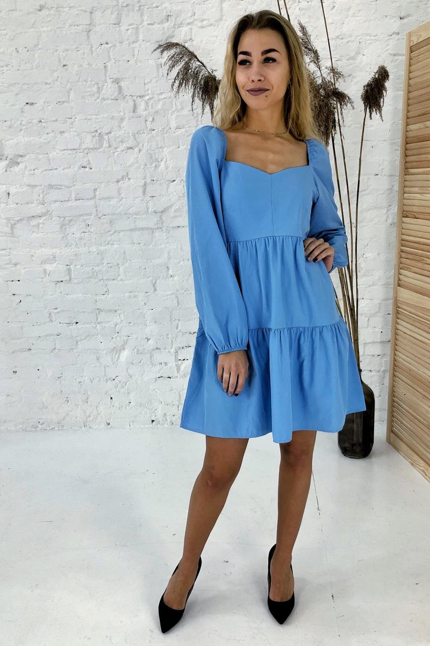 Изысканное платье с завышенной линией талии Clew - голубой цвет