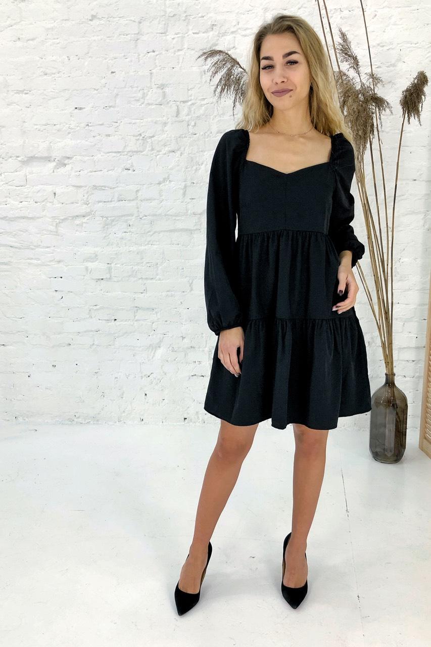 Изысканное платье с завышенной линией талии Clew - черный цвет
