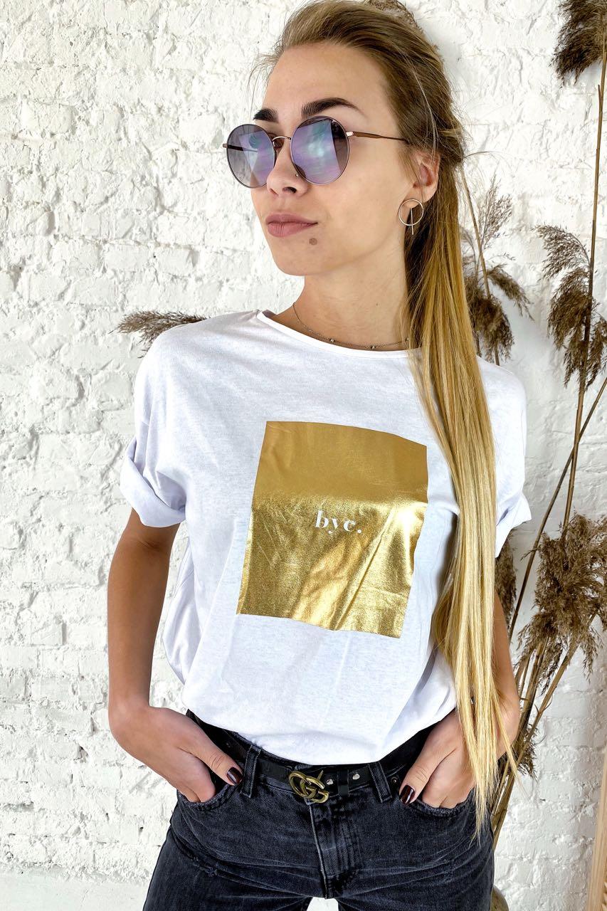 Необычная футболка с дерзкой надписью  Clew - белый цвет