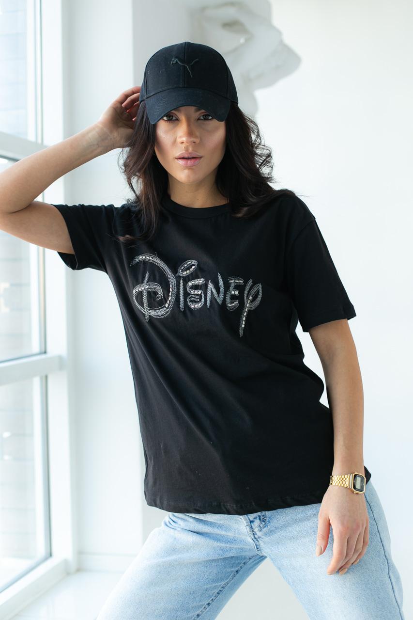 Базовая футболка с вышитой надписью  LUREX - черный цвет