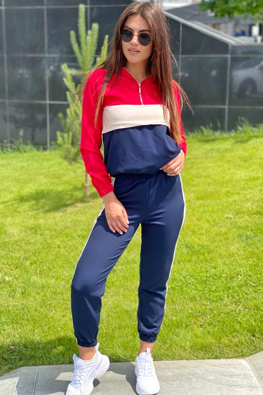 Трендовый спортивный костюм худи и джогеры  YARE - красный цвет