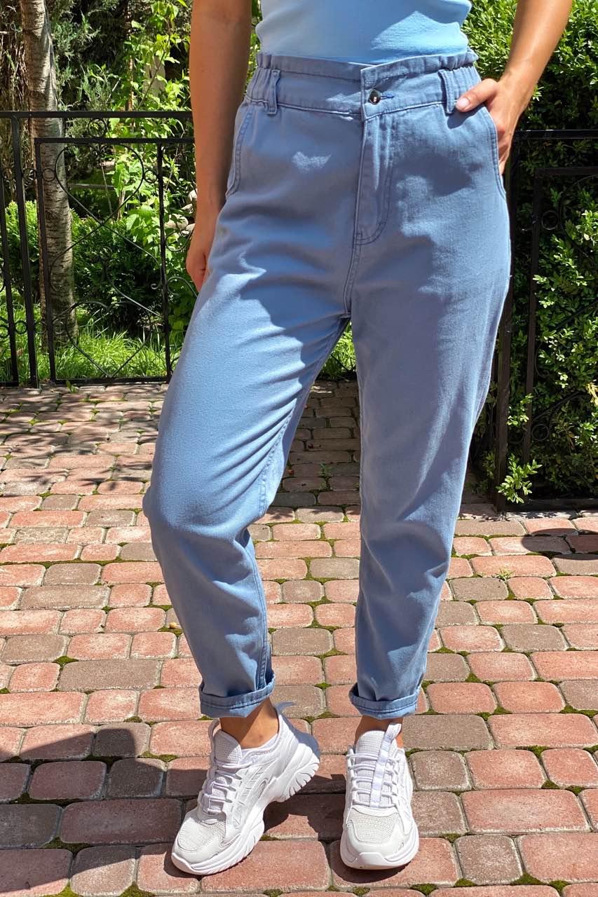 Джинсы с завышенной талией на резинке  Busem - джинс цвет