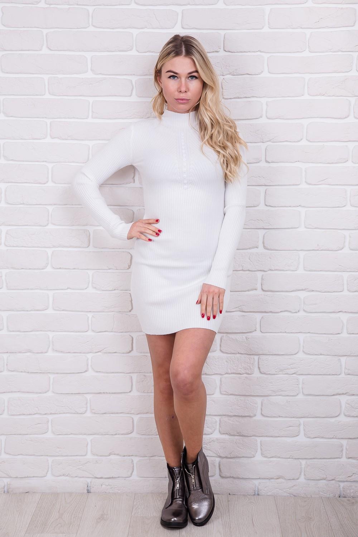 Соблазнительное приталенное платье M.B.21 - белый цвет