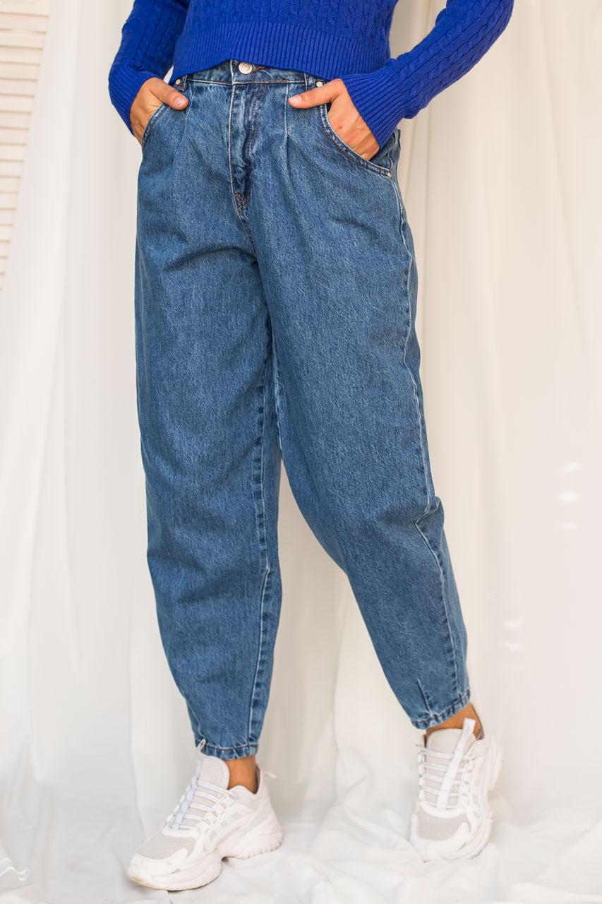 Джинсы бананы с высокой талией LUREX - джинс цвет
