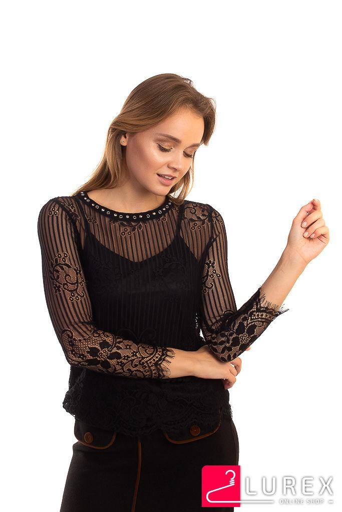 Блуза из французского кружева Zeza Fashion - черный цвет