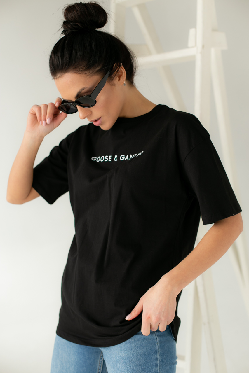 Хлопковая футболка с надписью Enjoy Carnavale - черный цвет