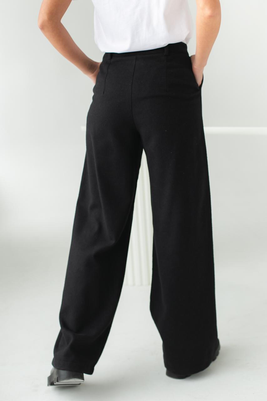 Широкие брюки с высокой посадкой Clew - черный цвет