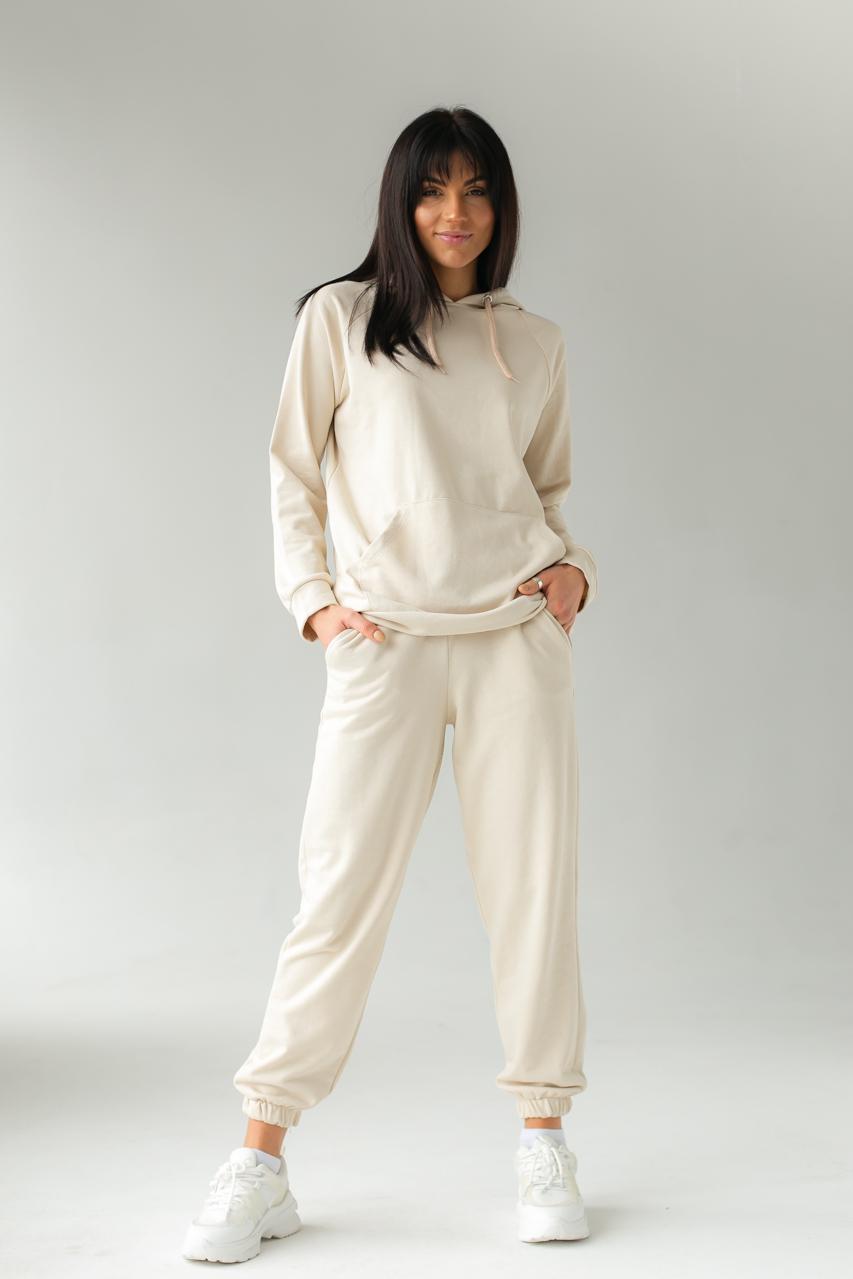 Спортивный костюм из худи и джоггеров DISPATCH - бежевый цвет