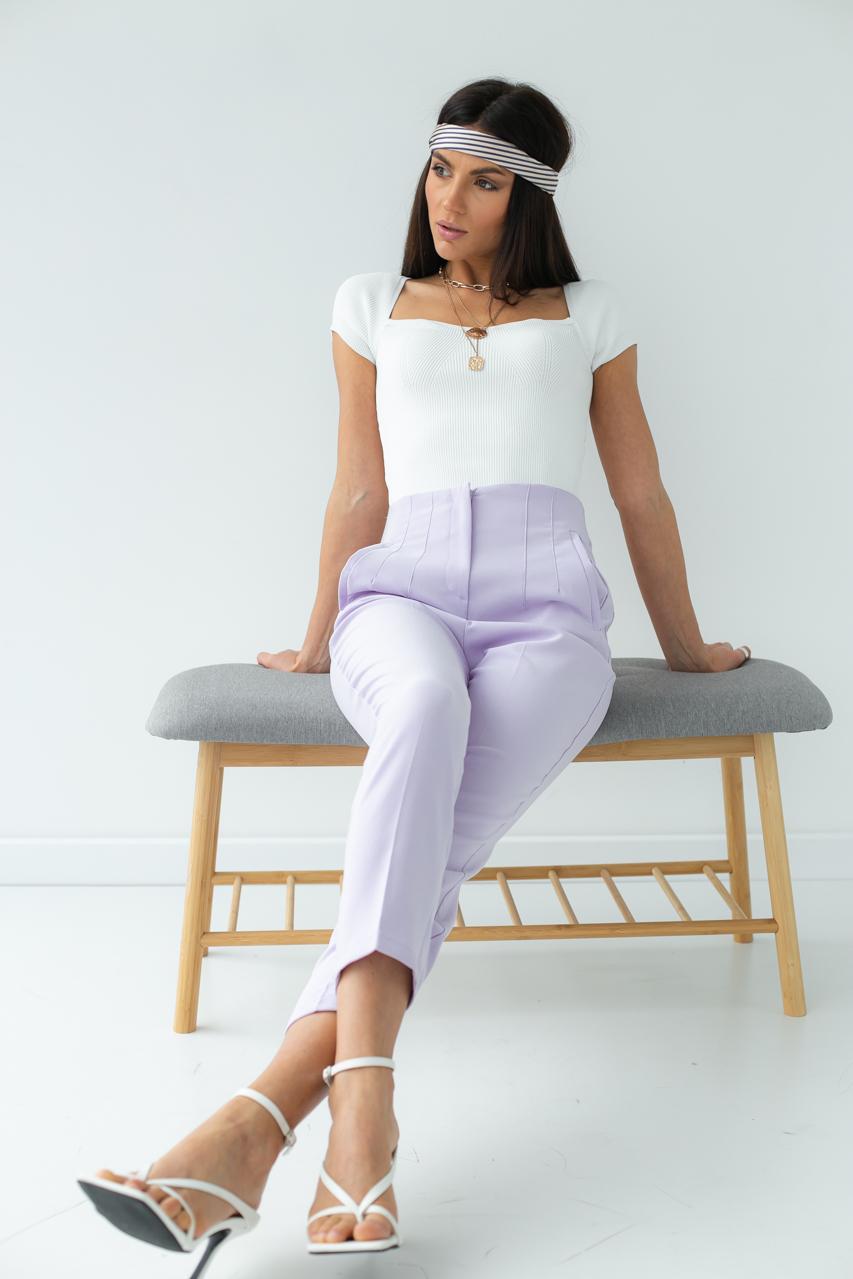 Классические брюки со стрелками PERRY - лавандовый цвет