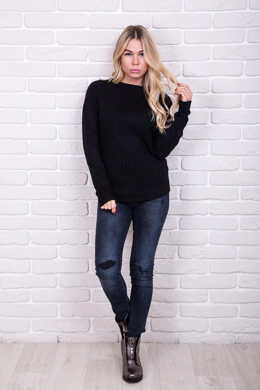Классическая теплая кофта Sweet Lady - черный цвет