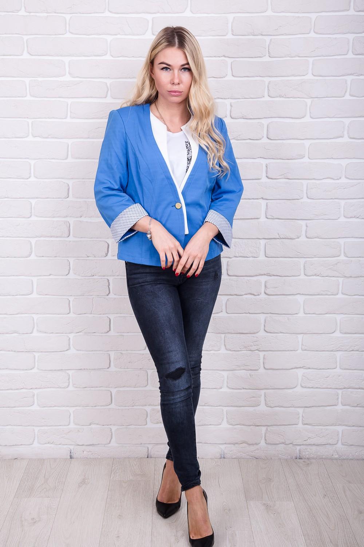 Пиджак с рукавом 3/4 RUBIN - голубой цвет