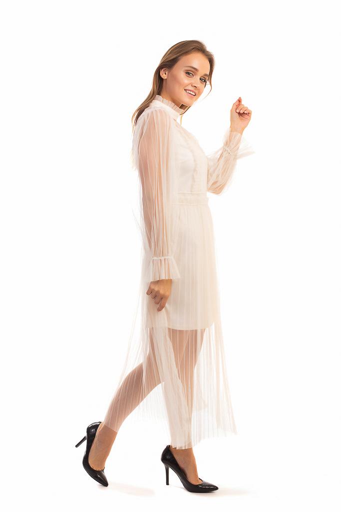 0ccc660444adbbb Винтажное платье из фатина Paccio - кремовый цвет, L (есть размеры ...