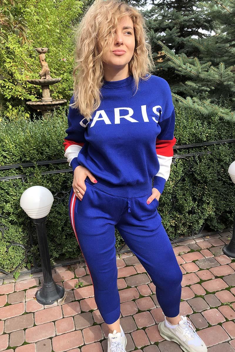 Костюм PARIS в стиле спорт-шик LUREX - синий цвет