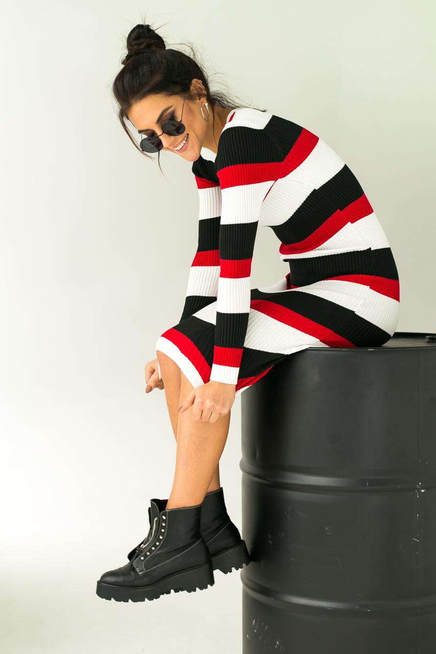 52db006cfad5 Полосатое платье вязки лапша 043-1   Dress Up - интернет магазин одежды