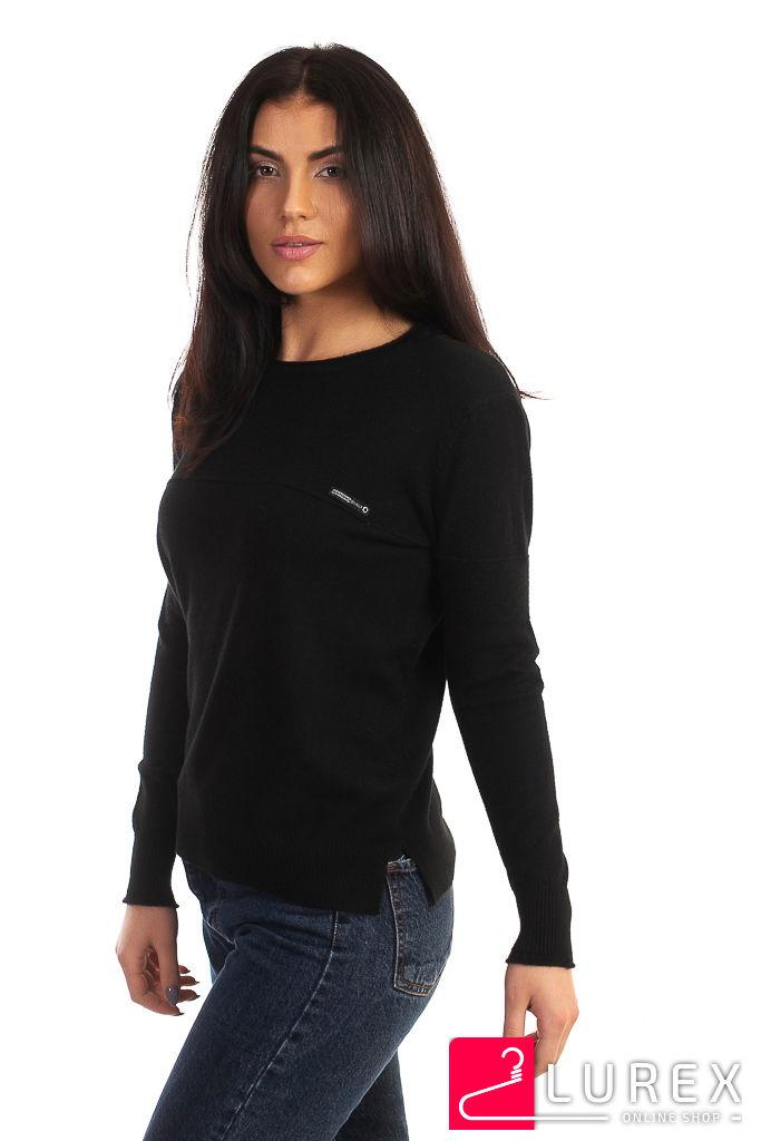 Кофта с горизонтальной полоской LUREX - черный цвет