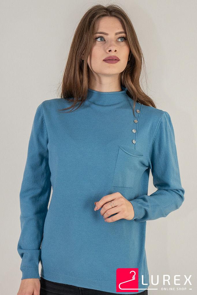 Гольф с карманом и пуговицами LUREX - голубой цвет