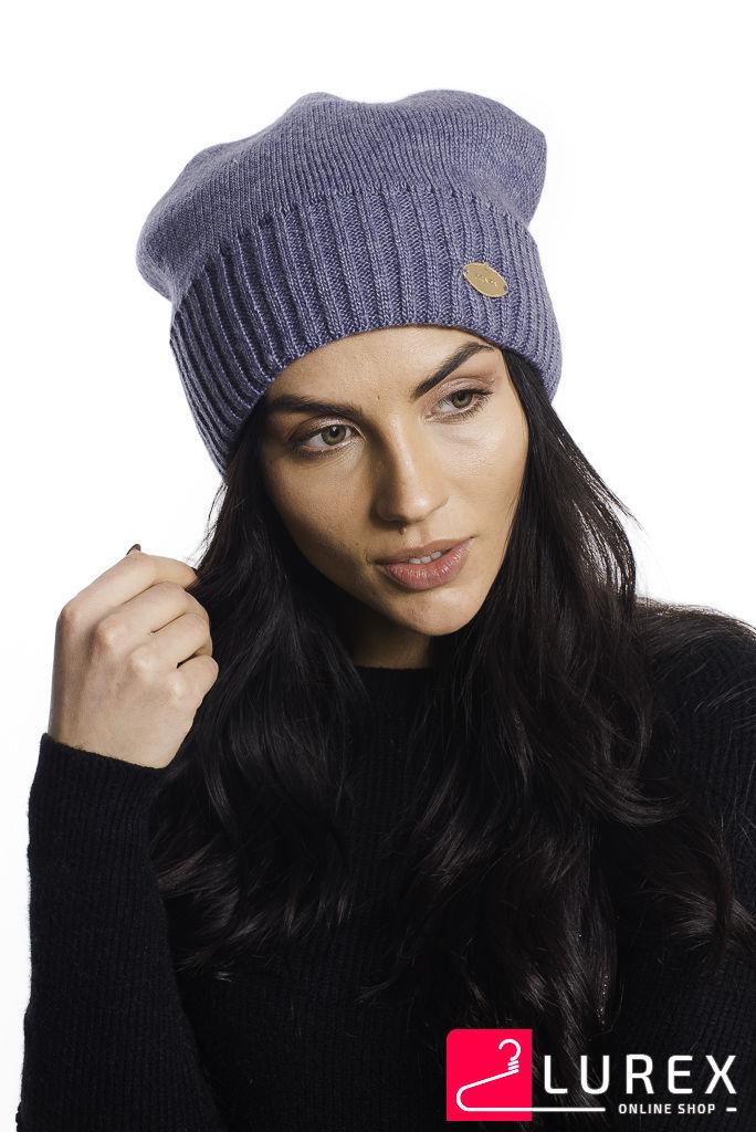 Классическая шапка на флисе Prada LUREX - джинс цвет