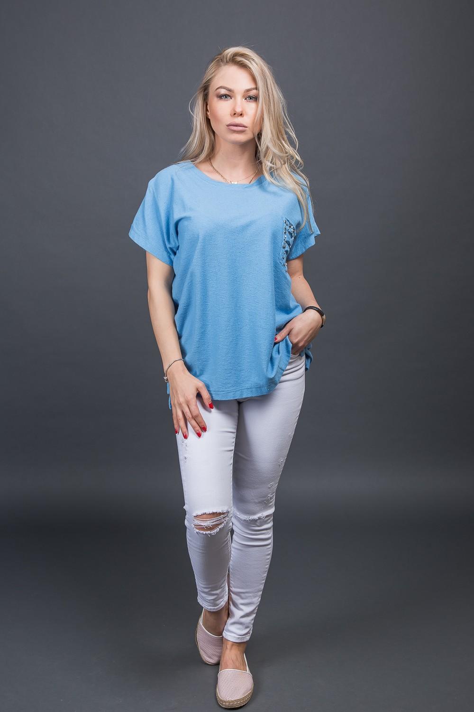 Футболка LUREX - синий цвет