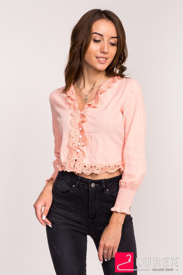 Блузка-болеро LUREX - персиковый цвет
