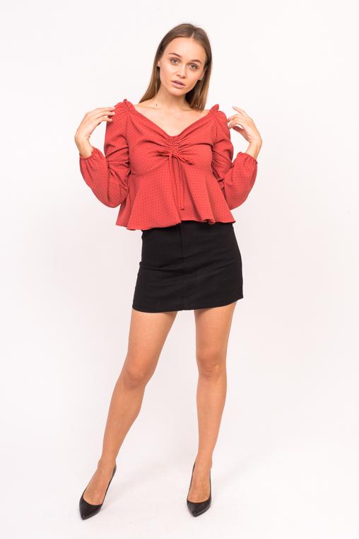 Блузка с открытими плечиками LUREX - красный цвет