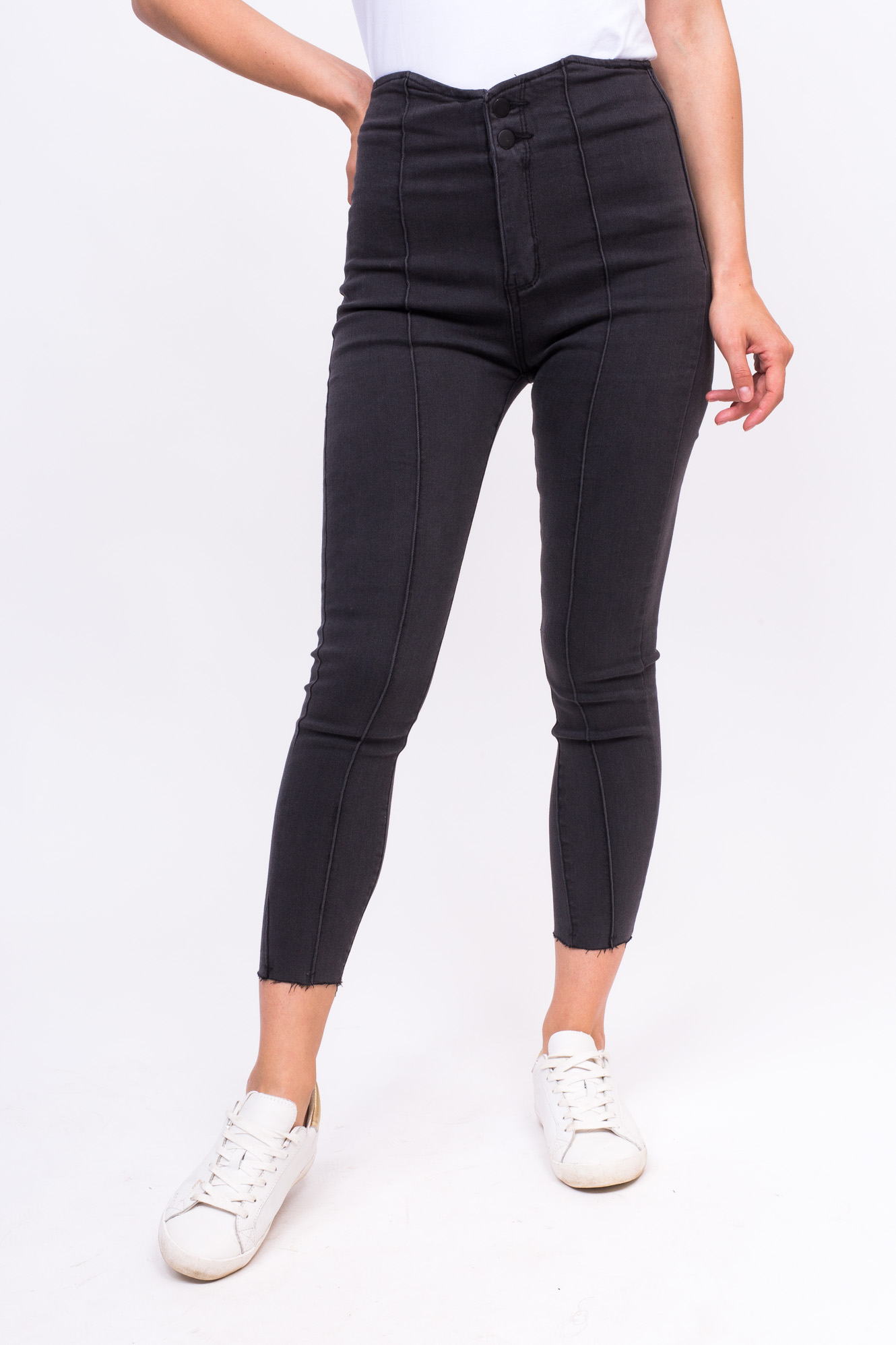 Стильные стрейчевые джинсы LUREX - серый цвет