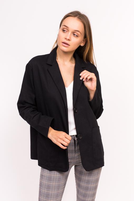 Классический женский пиджак M collection - черный цвет