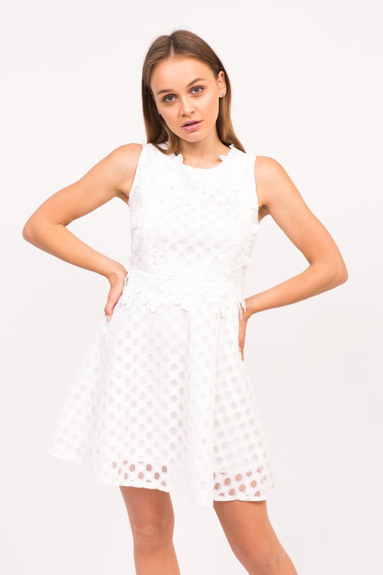 Короткое летнее платье LUREX - белый цвет