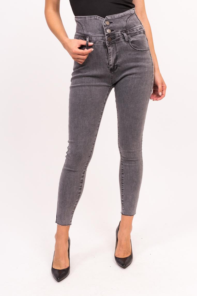 Женские джинсы с высокой талией Yuanse - серый цвет