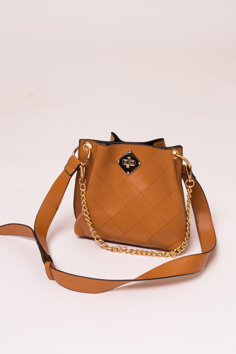 Женская сумка с плечевым ремнем LUREX - св-коричн цвет