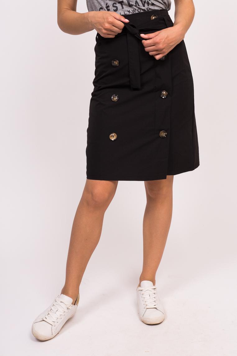 Юбка с декоративными пуговицами LUREX - черный цвет