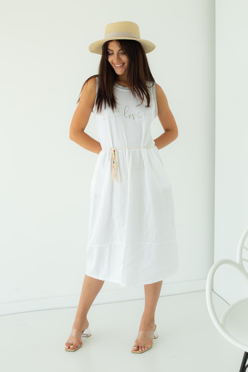 Летнее платье made with love for My Luna - белый цвет
