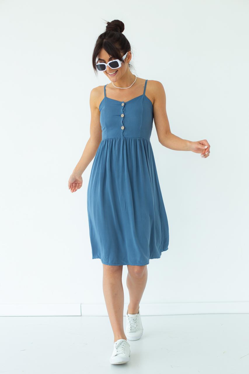 Легкий летний сарафан LUREX - синий цвет