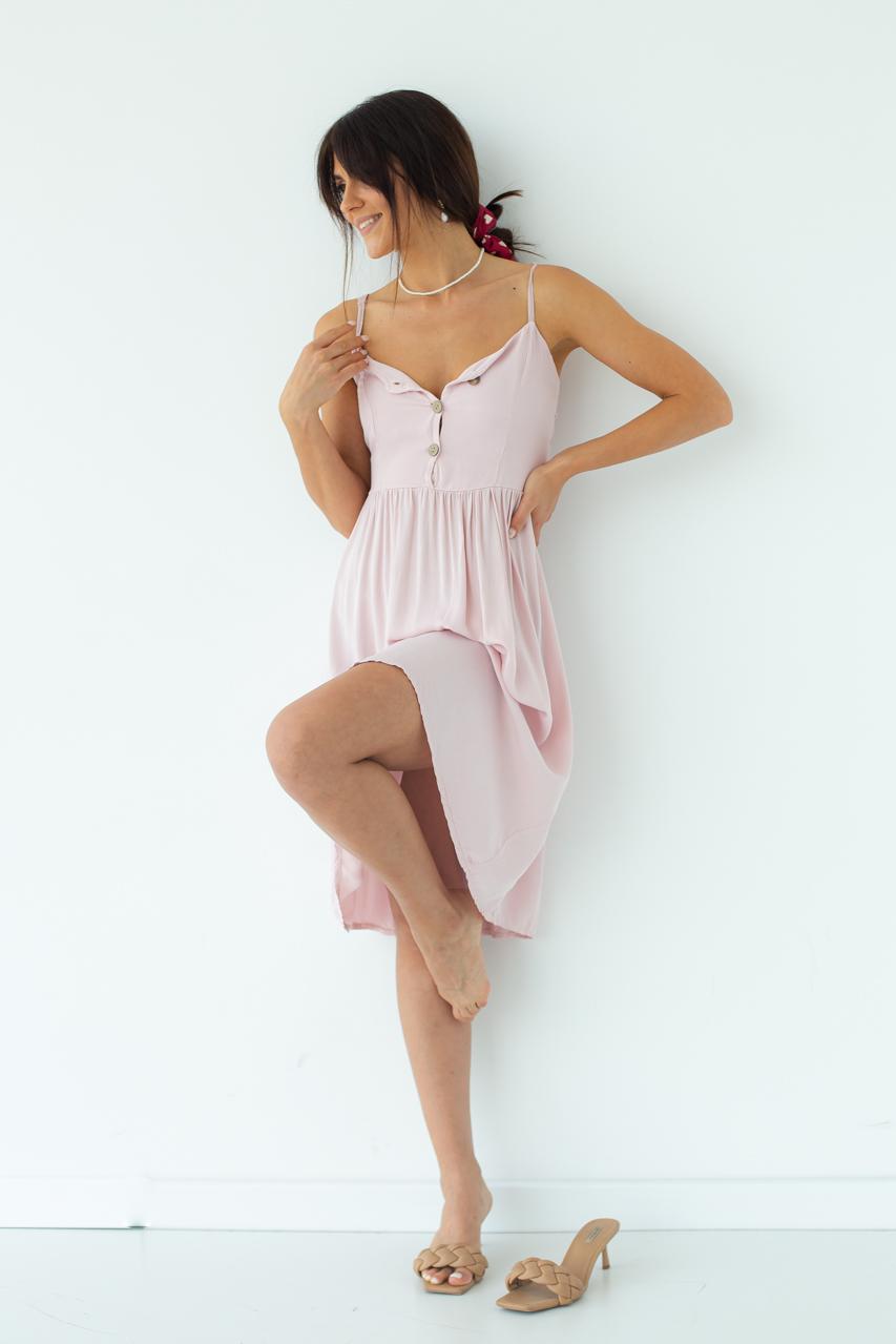 Легкий летний сарафан LUREX - пудра цвет