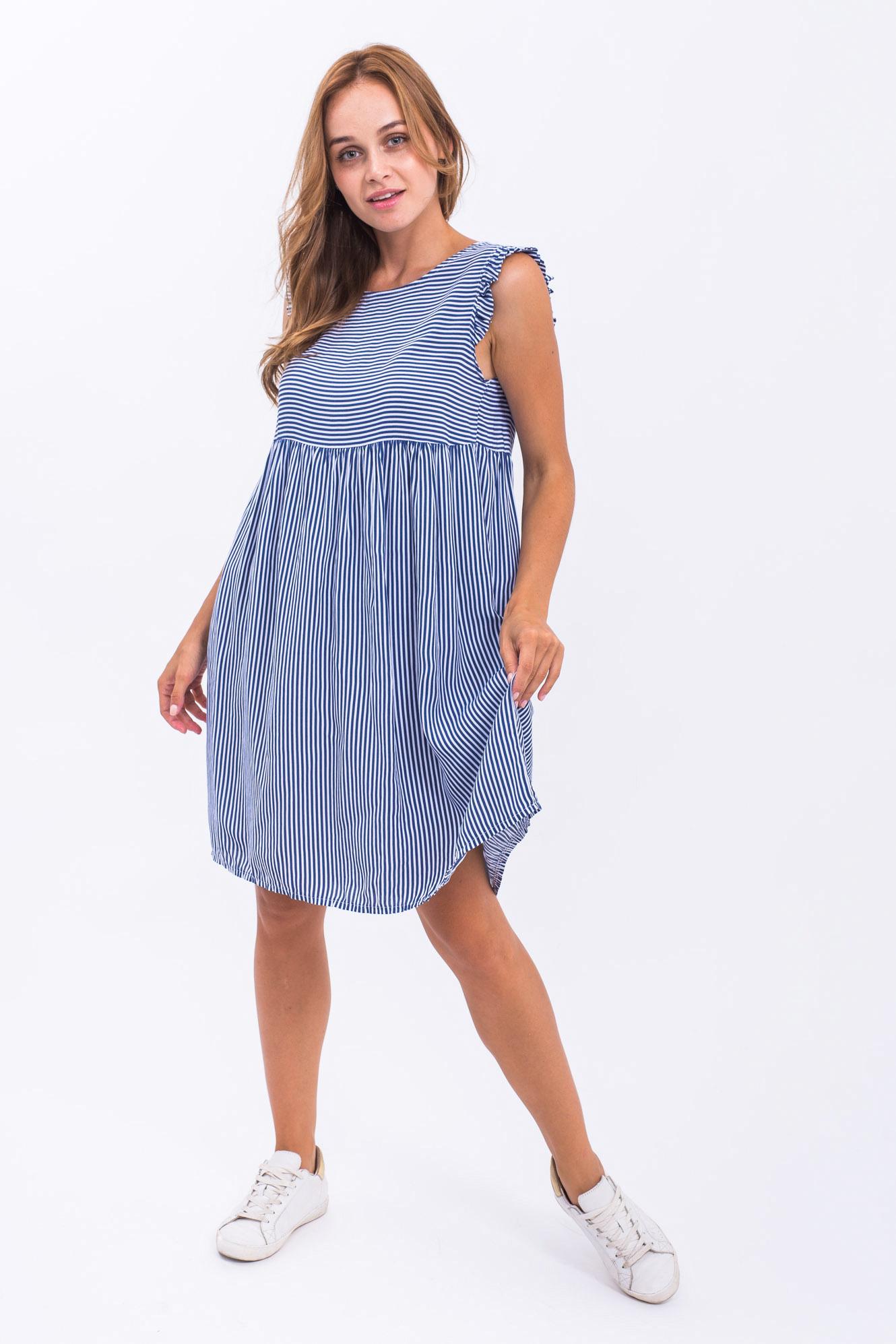 Платье тонкая полоска LUREX - синий цвет