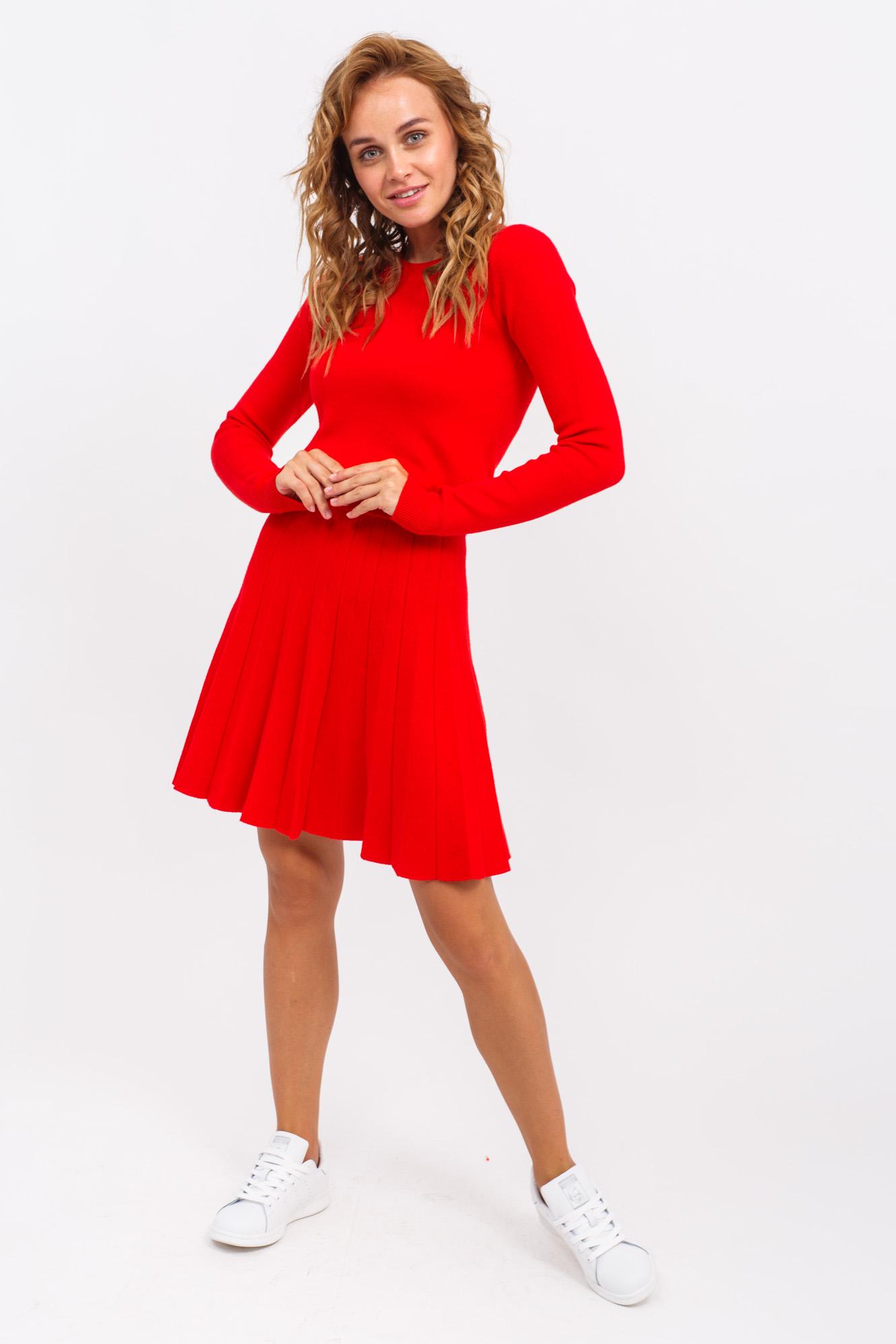 Костюм двойка кофта с юбкой LUREX - красный цвет