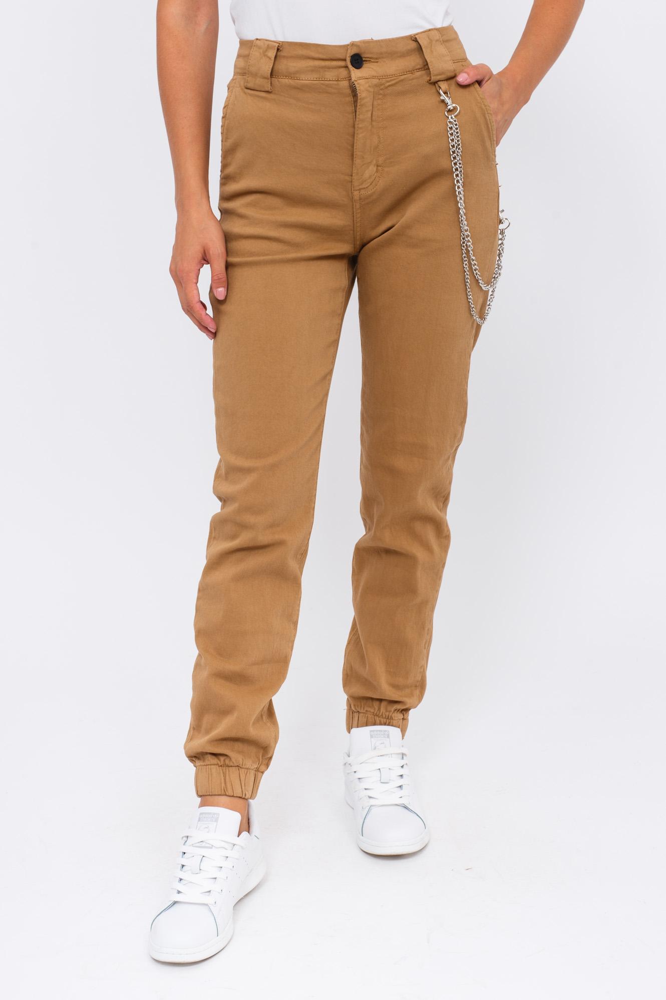Женские джинсы с цепочкой Re-Dress - бежевый цвет