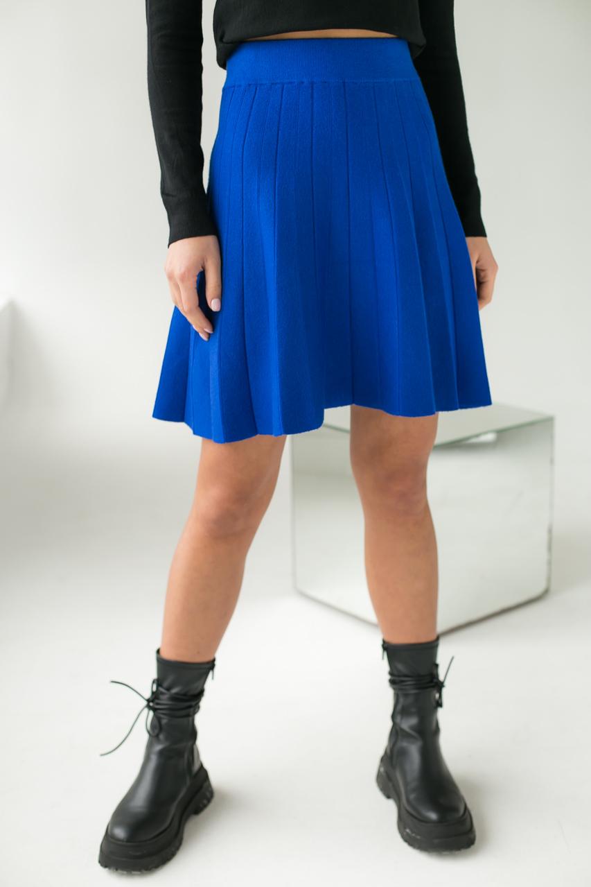 Стильная юбка клеш ebelieve - синий цвет